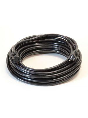 Milspec D11714025BK 14/3 SJTW Pro Star Ext Cord Black with Black Ends (25FT)
