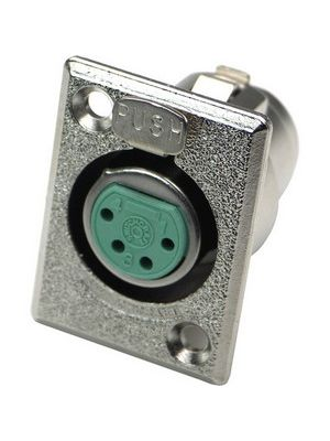 Switchcraft D4F Female XLR Chassis Mount