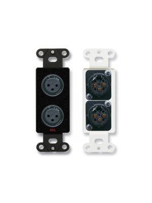 Radio Design Labs DB-XLR2F Dual XLR 3-pin Female Jacks on Decora® Wall Plate