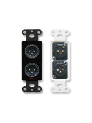 Radio Design Labs DB-XLR2M Dual XLR 3-pin Male Jacks on Decora® Wall Plate