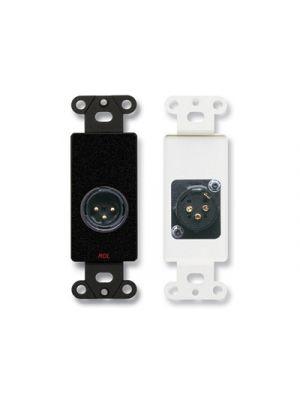 Radio Design Labs DB-XLR3M XLR 3-pin Male Jack on Decora® Wall Plate