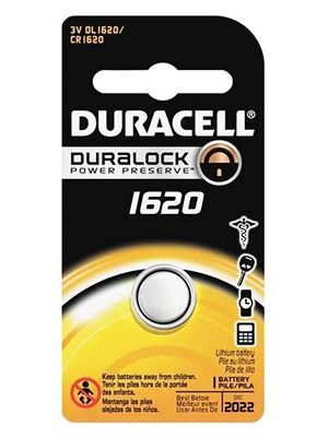 Duracell DL1620 3V Lithium Watch/Electronic Coin Cell Battery