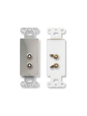 Radio Design Labs DS-PHN2 Dual RCA Jacks on Decora® Wall Plate