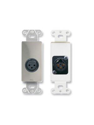 Radio Design Labs DS-XLR3F XLR 3-pin Female Jack on Decora® Wall Plate