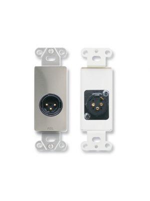 Radio Design Labs DS-XLR3M XLR 3-pin Male Jack on Decora® Wall Plate