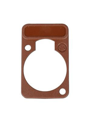 Neutrik DSS-BR D-Series Brown Lettering Plate
