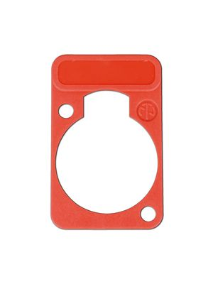 Neutrik DSS-RD D-Series Red Lettering Plate