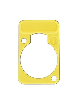Neutrik DSS-YL D-Series Yellow Lettering Plate