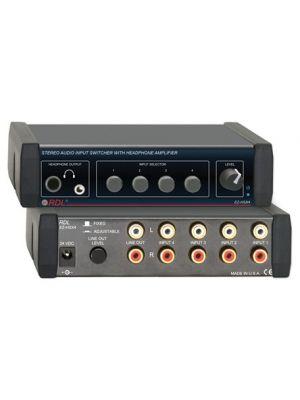 Radio Design Labs EZ-HSX4 Stereo Audio Input Switcher with Headphone Amp - 4X1