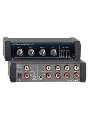 RDL EZ-MX4L Stereo Line-Level Audio Mixer - 4X1