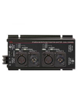 Radio Design Labs FP-MPA2 Dual Microphone Phantom Adapter 12, 24, 48 V - XLR