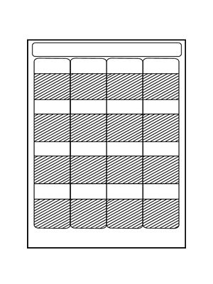 HellermannTyton TAG10L105SHEET Laser Tag Self-Laminating Label (16/Sheet)