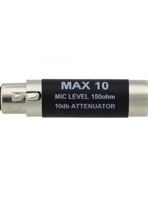 RapcoHorizon MAX10 10db Attenuator Microphone Adapter (XLRF/XLRM)