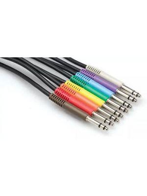 Hosa TTS-845 TT Male Bantam Cable - 8 Color Set (1.5 FT)