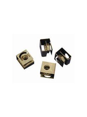 Hammond 1421N100 10-32 Black Round Hole Clip Nut (100 Pack)