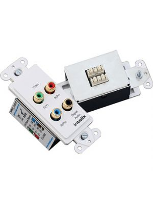 Intelix AVOV3AD-WP110 Component Video & Digital Audio Wallplate Balun Over Cat5