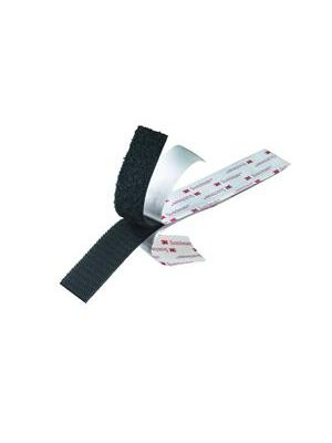 3M SJ3526-1BK Scotchmate Reclosable Fastener Hook Side - 1 Inch Wide, Black (by the foot)