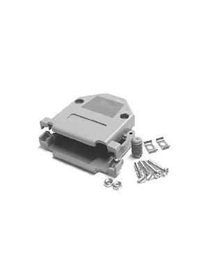 Pan Pacific DP-15C Gray Plastic Hood for 15 Pin D-Sub Connectors