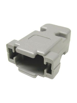 Pan Pacific DP-9C Gray Plastic Hood for 9 Pin D-Subs and HD15