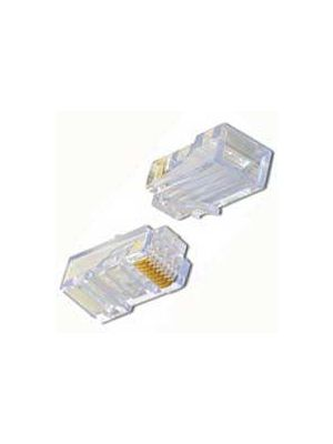 Pan Pacific PT-088RS RJ45 Connector for Solid Conductor Round Cables (Pack of 50)