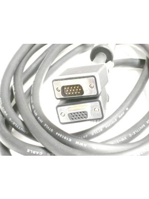 Pan Pacific S-H15MF-10-XL Super VGA Coax Style 15 Pin HD Cable Male to Female - 10 Feet