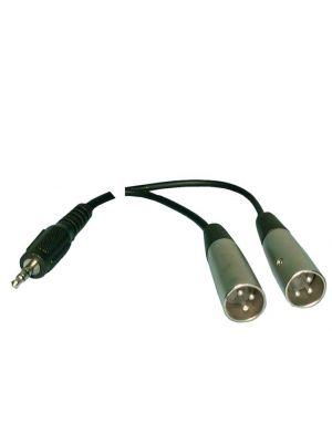 Philmore 44-190 Stereo Y-Cord 3.5mm Mini Plug to XLR Males - 6 Feet
