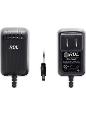 Radio Design Labs PS-24AS 24 Vdc Switching Power Supply, North American AC Plug, 500 mA dc Plug