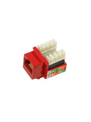 Tri-Net Technology 07F-I88-RD Cat 5e Keystone Jack (Red)