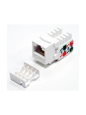 Tri-Net Technology 07F-188-WH Cat 5e Keystone Jack (White)