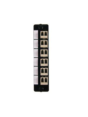 HellermannTyton FAP6DMMLC Duplex LC Adapter Panel (Beige)
