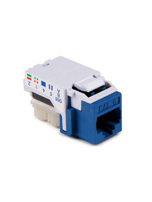 HellermannTyton RJ45FC6-BLU Category 6 Modular Keystone Jack (Blue)