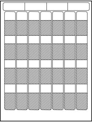 HellermannTyton TAG9L-Sheet Laser Tag Self-Laminating Label (Sheet of 28)