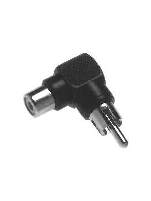 Calrad 35-511G RCA Male to Right Angle RCA Female Adapter