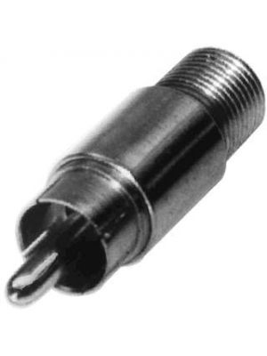 Calrad 75-518 Female F Fitting to Male RCA Type Plug Adapter