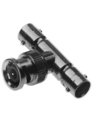 Calrad 75-540 T Style Adapter w/2 BNC Females to 1 BNC Male