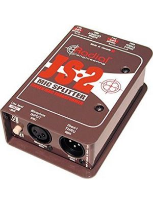 Radial Engineering JS2 Single Isolated Output Passive Microphone Splitter