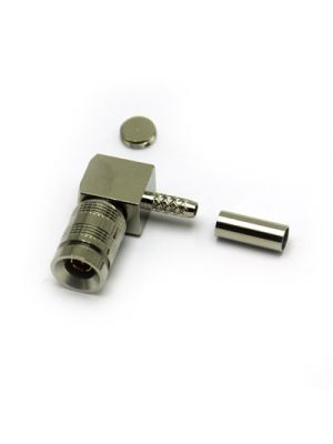 Coax Connectors Ltd 52-104-B6-AB DIN 1.0/2.3 Right Angle Solder / Crimp Plug True 75 Ohm