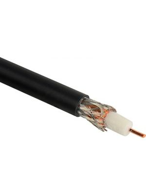 Canare L-5.5CUHD 12G-SDI 75 OHM Black Video Coaxial Cable - 16 AWG (100M Roll)