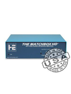 Henry Engineering MATCHBOXHD - Matchbox HD Stereo Level Matching Interface/Amplifier (Henry Engineering)