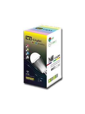 MiLight 9w LED iPhone and Android Controlled RGBW Light Bulb