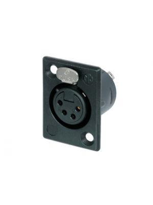 Neutrik NC4FP-B-1 XLR4F Receptacle w/Gold Contacts (Black)