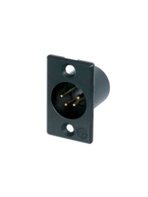 Neutrik NC4MP-B XLR4M Receptacle w/Gold Contacts (Black)