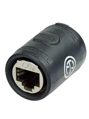 Neutrik NE8FFX6-W EtherCON CAT6A Feedthrough Coupler