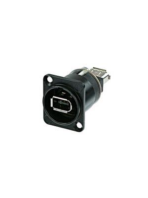Neutrik NA1394-6-B D-Style Black Firewire Receptacle