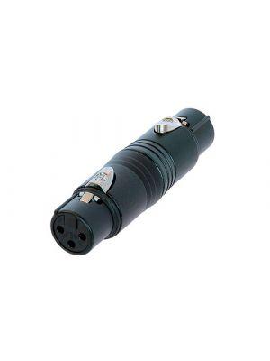 Neutrik NA3FF-B XLR Gender Conversion Adapter
