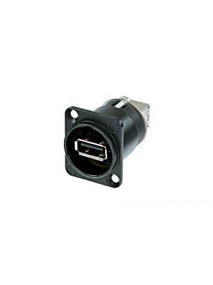 Neutrik NAUSB-W-B Reversible USB Panel Mount Gender Changer (Black)