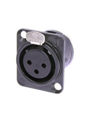 Neutrik NC3FD-L-B-1 XLR Female Receptacle (Black)