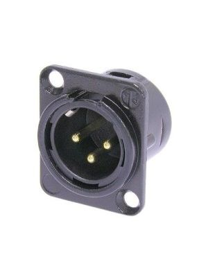 Neutrik NC3MD-L-B-1 XLR Male Receptacle (Black)