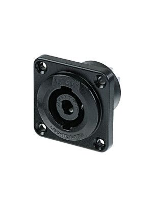 Neutrik NLT4MP-BAG speakON Chassis Connector (Black)