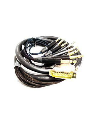 NoShorts DB25 Male to 1/4 Inch Plug 8Ch Digital Snake Cable (12 FT)